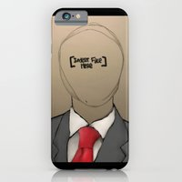 iPhone & iPod Case featuring Insert Face [Here], suit. by Nathan Harmon
