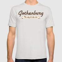 Gothenburg - The city & the sea Mens Fitted Tee Silver SMALL