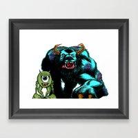 Mike & Sully... Framed Art Print