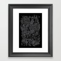 Lost Sketches Framed Art Print