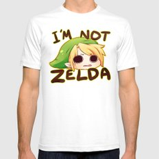 Link Is Not Zelda Mens Fitted Tee White SMALL