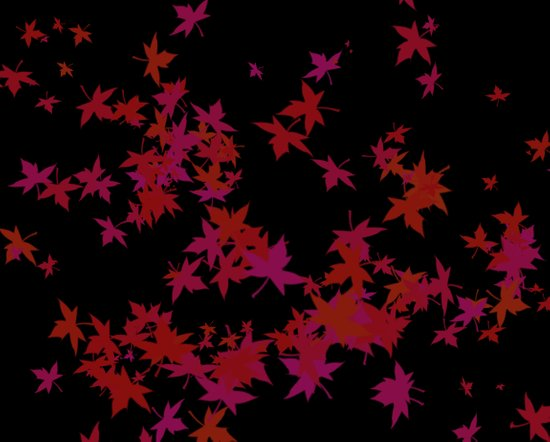 Maple Leaves. Art Print