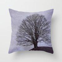 Tree In Purple Throw Pillow