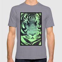 Be A Tiger (Green) Mens Fitted Tee Slate SMALL