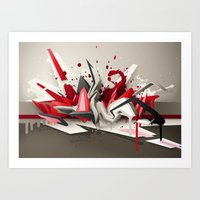 Red Metal Art Print