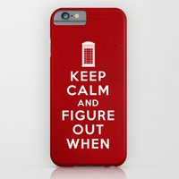 Keep Calm and Figure Out When iPhone 6 Slim Case