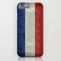iPhone Cases featuring Flag of France, vintage retro style by Bruce Stanfield