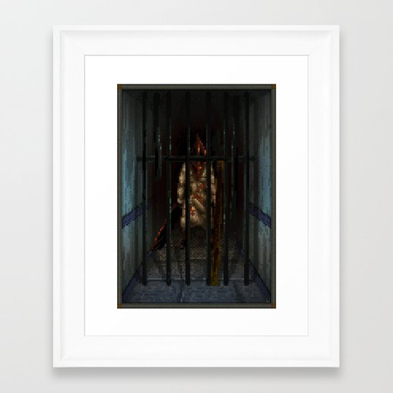 Pixel Art series 6 : Pyramid Framed Art Print