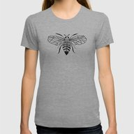 Queen Bee... Womens Fitted Tee Athletic Grey LARGE
