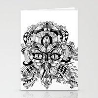 Mask Face Stationery Cards