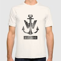 ANCHOR Mens Fitted Tee Natural SMALL
