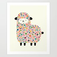 Art Print featuring Bubble Sheep by Andy Westface