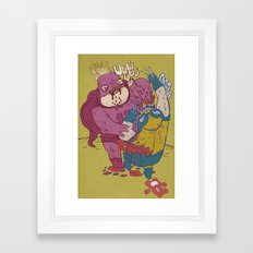 same old jokes Framed Art Print