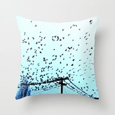 After Hours At The Wire Throw Pillow