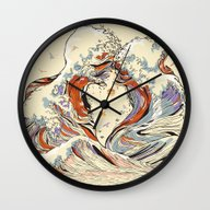 Wall Clock featuring The Wave Of Love by Huebucket