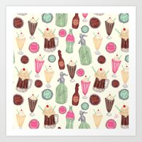 Soda Jerk Pattern Art Print