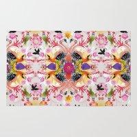 Kaleidoscope Flamingos Rug