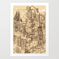 San Francisco! (Dusty) Art Print