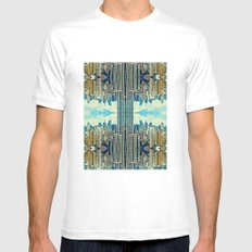 NYC in patterns Mens Fitted Tee White SMALL