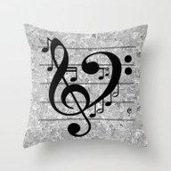Love Music Throw Pillow