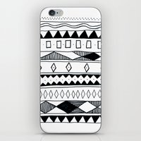 Rivers & Robots Pattern iPhone & iPod Skin