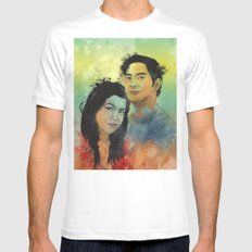 Gidget and Nino White SMALL Mens Fitted Tee