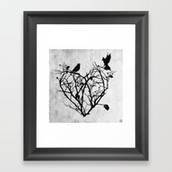 Framed Art Print featuring Under Construction (blac… by Seamless