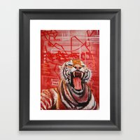 Intense Ferocity Framed Art Print