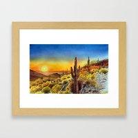 Arizona's Sunset Framed Art Print