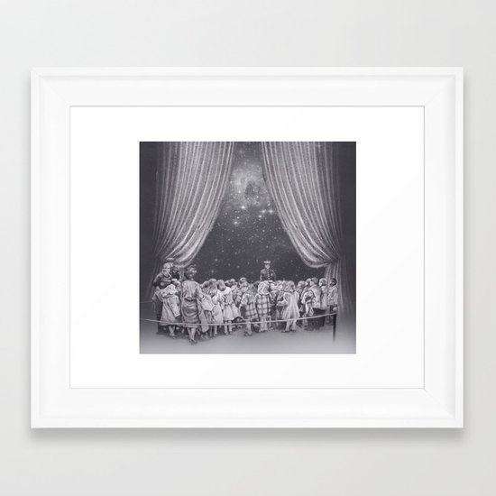 In which flash photography is discouraged Framed Art Print