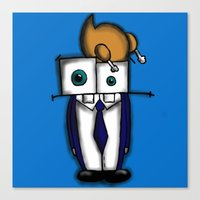 Canvas Print featuring What a gentleman! by Kerry Anne Robinson
