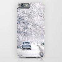 Winter on Beechwood Lane iPhone 6 Slim Case