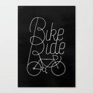 Bikeride Canvas Print