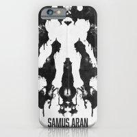Samus Aran Metroid Geek Psychological Diagnosis Ink Blot  iPhone 6 Slim Case
