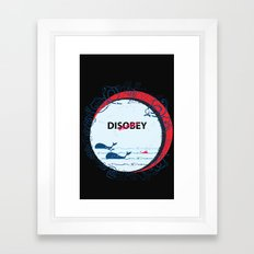 DIS Obey Whale Framed Art Print