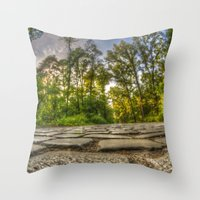 Stone woods Throw Pillow