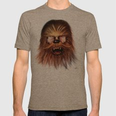 STAR WARS CHEWBACCA Mens Fitted Tee Tri-Coffee SMALL