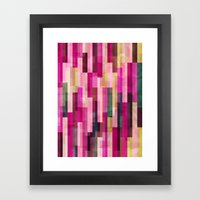 Pinks And Parallels Framed Art Print