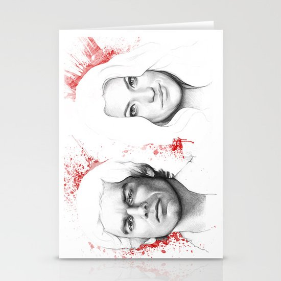 Dexter and Debra Stationery Card