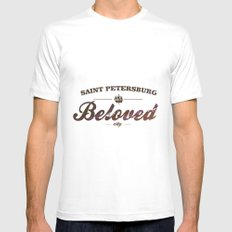Beloved city SMALL White Mens Fitted Tee