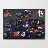 St. Louis Cardinal #NASCAR car. Canvas Print