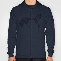 Passport Stamp Map 1 Hoody