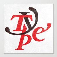 Type Canvas Print