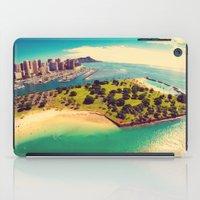 Ala Moana Beach Park, Magic Island, and Diamond Head  iPad Case