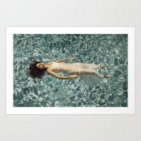 Ophelia in a Pool Art Print