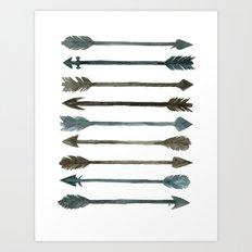 Somber Arrows Art Print