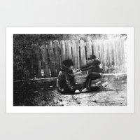 Drunk and Son Art Print