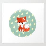 Art Print featuring I'm A Fox by Erica_art
