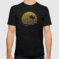 Paradise Mens Fitted Tee Tri-Black SMALL