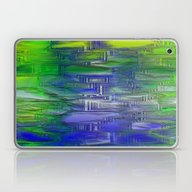 Flashy Surface Green Blu… Laptop & iPad Skin